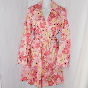 Apostrophe Floral Trench Rain Jacket Coat M 10-12